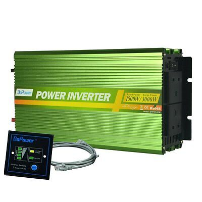 EDECOA Power Inverter 1500W Pure Sine Wave DC 12V to 240V AC with Multifunction