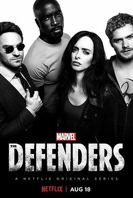 Marvel's THE DEFENDERS TELEVISION SERIES poster photograph 2 - glossy A4 print