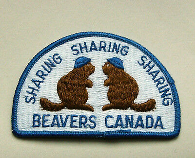 Canada Boy Scout Patch - Beavers Canada - Sharing  Sharing  Sharing