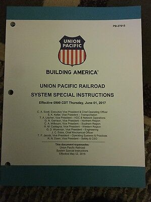 Union Pacific System Special Instructions June 1, 2017