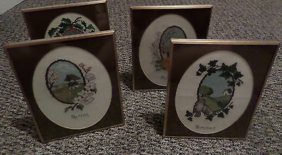 Four Seasons Framed Complete Set Cross-stitch