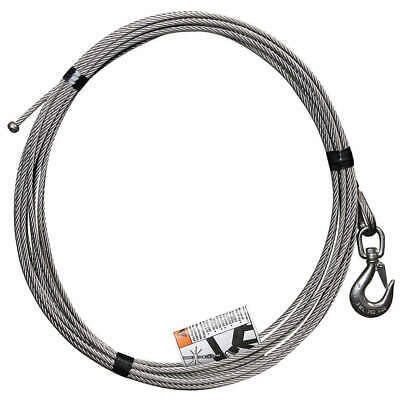 OZ LIFTING PRODUCTS Cable,Stainless Steel,1200 lb., OZSS.25-55B