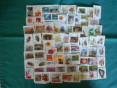 70+ x Used Recent Australian Stamps on Paper- #4