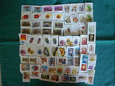 70+ x Used Recent Australian Stamps on Paper- #5