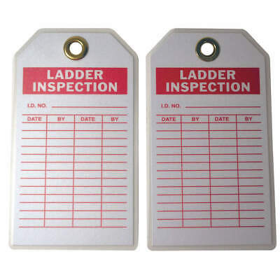 BRADY Polyester Inspection Tag,7inHx4inW,HD Poly.,PK10, 86503