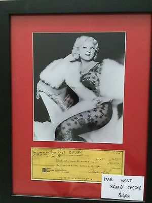Genuine Hand Signed Mae West Photo