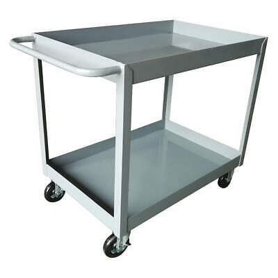 GRAINGER APPROVED Utility Cart,Steel,42 Lx24-1/8 W,Gray, 2GMH6, Gray