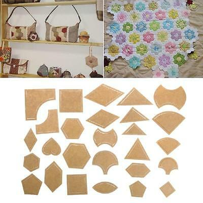 54Pcs Mixed Handmade Patchwork Quilt Quilter Templates DIY Tools Quilting Supply