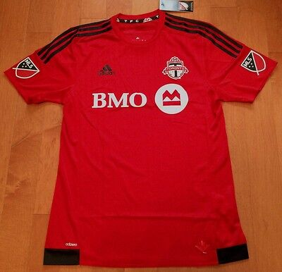 NEW LARGE ADIDAS 2016 Toronto FC AUTHENTIC MATCH HOME Jersey - TFC MLS Soccer