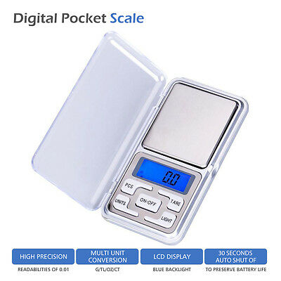 Mini Small Pocket Digital Gold Weighing Scales 0.1g 500g Herb Pocket Size