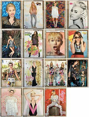MILEY CYRUS - 15 Folded Magazine Poster Clippings from Europe