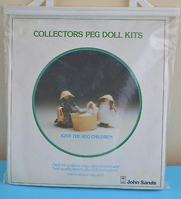 Vintage Collectors Peg Doll Kits X200 The Peg Children Craft Make Kit John Sands
