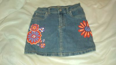 Girl's Size 4 skirt Denim Flowers by The Children's Place