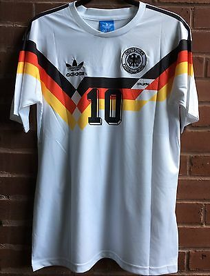 adidas Retro. Germany 1990 Word Cup Home Jersey,Matthaus #10, Men's Medium