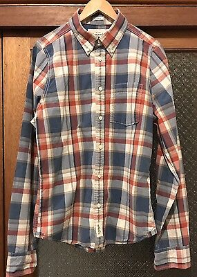 Abercrombie And Fitch Mens Muscle Shirt Button Up Long Sleeve Size XL
