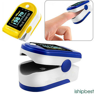 2017 Pulse Oximeter Fingertip with Pouch, Blood Oxygen Finger Meter Heart Rate