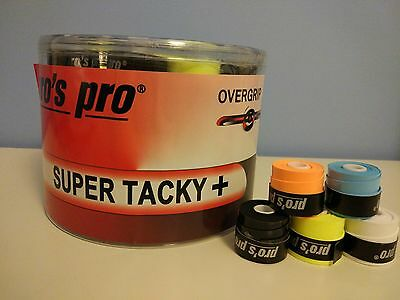 x60 OVERGRIP PROS PRO SUPER TACKY (COLORES). PADEL TENIS BADMINTON OVERGRIPS