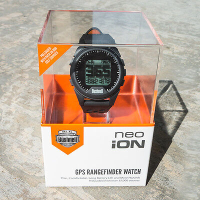 Bushnell Neo ION GOLF GPS WATCH  Charcoal NEW with Free Ball Marker & Pens