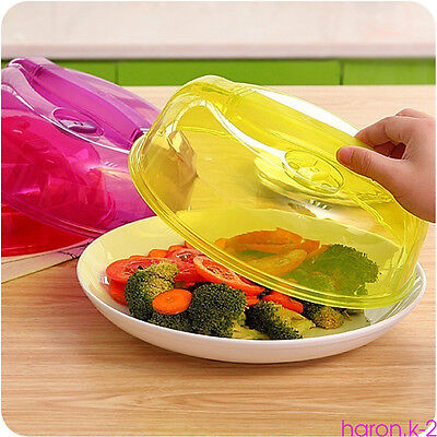 Kitchen Plastic Microwave Food Dish Cover Plate Steam Vent Splatter Lid Tool HY8