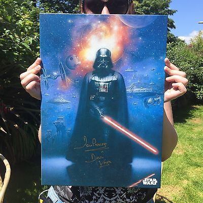 Star Wars - Signed Darth Vader Metal Posters By Dave Prowse