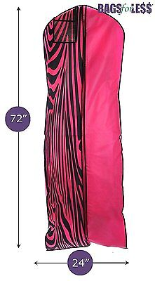 Garment Bag Travel and Storage for Bridal Gown Extra Large With 10 inch Gusset