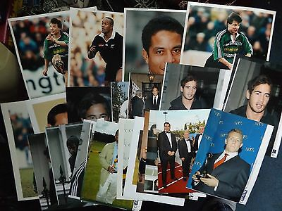 COLLECTION OF 25 x RUGBY UNION PRESS AGENCY PHOTOGRAPHS JONAH LOMU CIPRIANI etc