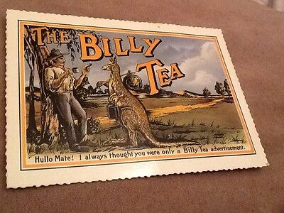 The Billy Tea Advertisement Post Card Vintage Collectable VGC