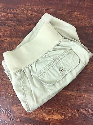 LIZ LANGE MATERNITY Fit Khaki Shorts Stretch Waist Casual Wear Women's Size M