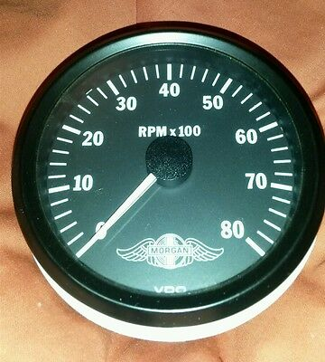 VDO Rev Counter Tachometer MORGAN Branded Cockpit Series Instrument Aero Plus 8