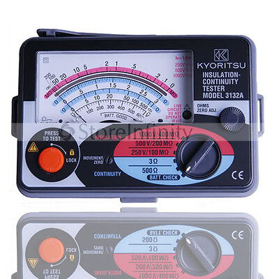 Japan Original Kyoritsu 3132A Insulation Tester Meter Fuse Protected
