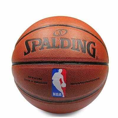 NWT Spalding Basketball NBA Size 7 PU Leather Ball Indoor Outdoor Free Postage