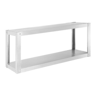 Hanging Shelf Gastro Kitchen Shelf 2 Shelves Stainless Steel 120X 38Cm 60Kg Load