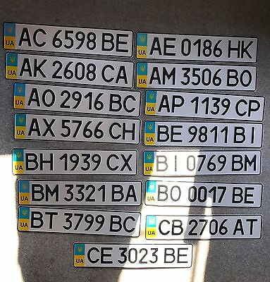 Ukraine License Plate - Sale Full Collection 27 Region Plates