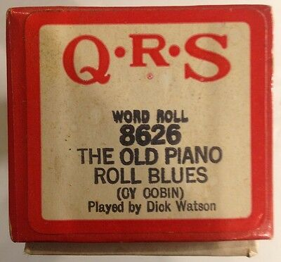QRS Word Roll Player Piano 8626 THE OLD PIANO ROLL BLUES Vintage 1950
