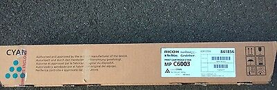Genuine Ricoh MPC6003 Cyan toner photocopier copier