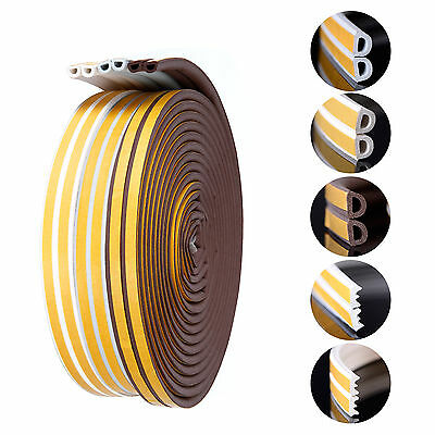 6-40m D E Foam Draught Self Adhesive Window Door Excluder Seal Strip Rubber