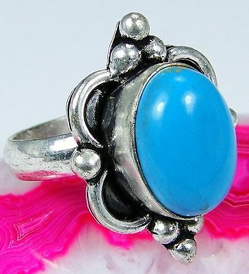 Turquoise 925 Sterling Silver jewelry Ring Size 9 J53-10299