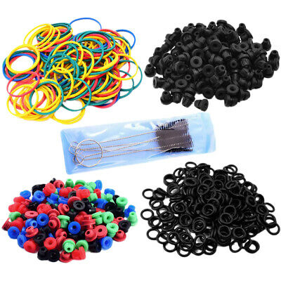 Pro Tattoo Machine Supply Kit O-rings Rubber Bands Grommets Nipples & Brush Set