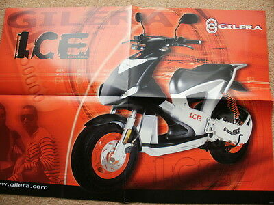 Original Gilera range brochure/poster 2001 Ice Coguar DNA SP50 SKP50