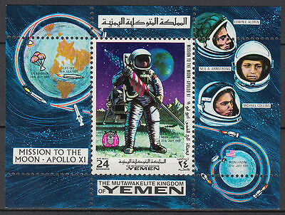 Yemen Kgr 1969 ** Bl.165 A Weltraum Space Apollo