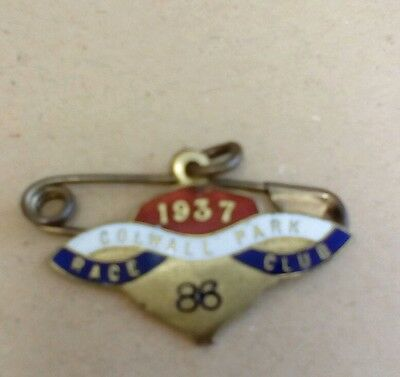 Colwall Park Race Club 1937 Members Badge Scarce