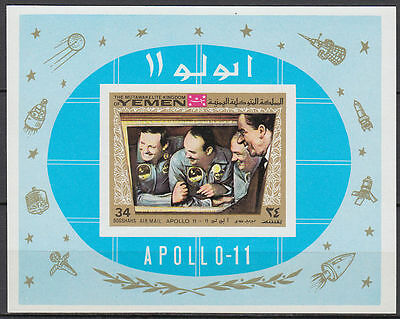 Yemen Kgr 1969 ** Bl.167 B Weltraum Space Apollo