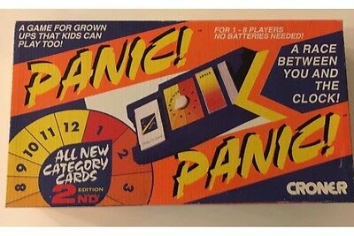 Croner Panic ! Vintage Retro Board Game 1987