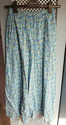 Laura Ashley Vintage Floral Long Summer Skirt Size Small / 8-10 - Festival
