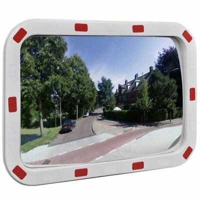"Rectangular Traffic Convex Mirror Outdoor Security & Safety w/ Reflector 24""L"