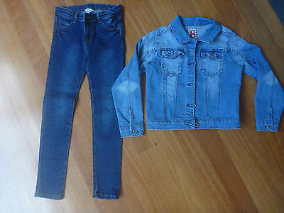 2 Girls Denim Jacket & Jeans Size 8