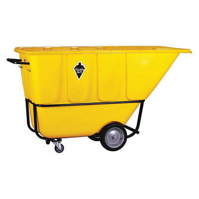 TOUGH GUY Tilt Truck,Std,1 cu. yd.,1250 lb.,Yellow, 21VK46