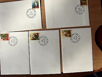 Australia 1978 20c BIRDS x 5  pre-stamped envelopes First Day of Issue