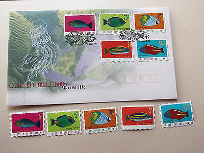 Cocos (Keeling) Islands 1997 Marine Life MNH stamps + FDC (Fish)