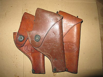 US WW2 Victory Revolver Holster .38 Special Model 10 Brown Leather Original NOS
